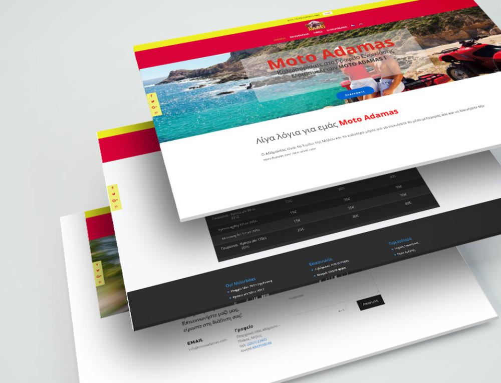 Σχεδιασμός & Κατασκευή ιστοσελίδας ενοικίασης μοτοποδηλάτων