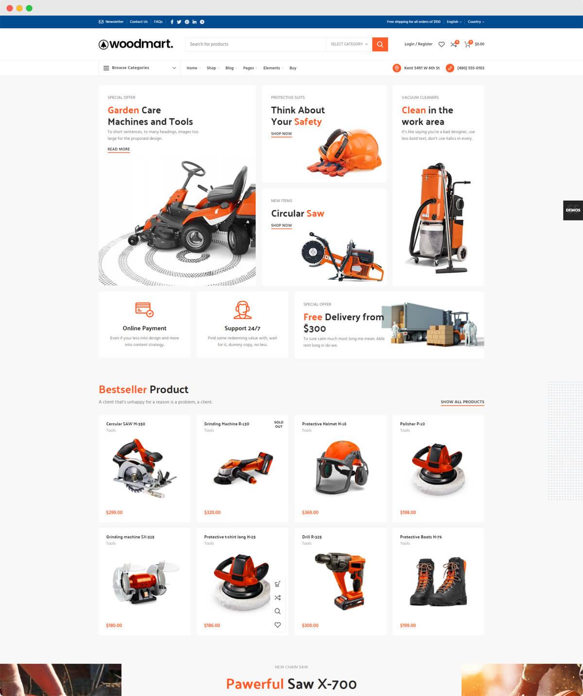 eshop εργαλείων & μηχανημάτων
